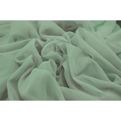 Mint Green silk chiffon fabric 44 inch wide~flat finish