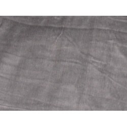 COTTON CORDUROY Fabric Grey color