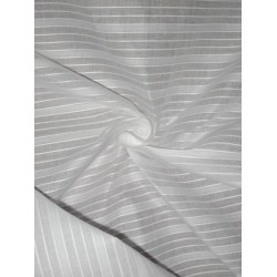 White cotton organdy fabric dobby design *