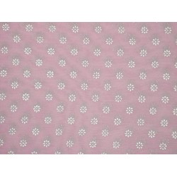Cotton organdy floral printed fabric Pink Color