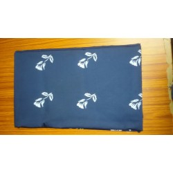 "58/59"" wide  Cotton satin  fabric block print -dark blue"