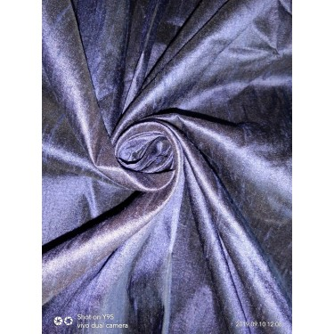 "100% pure silk dupioni fabric DARK NAVY 54"" with slubs MM7[7]"