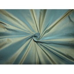 "100% Silk taffeta fabric  54""wide iridescent sea blue x gold  40MM TAF302 by the yard"