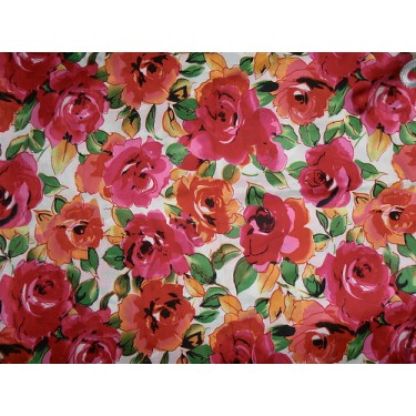 "Egyptian cotton cambric fabric-44""-floral design"