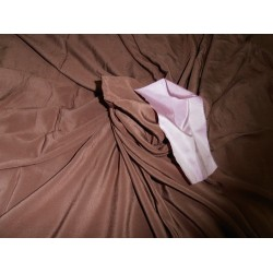 "Pure Silk crepe fabric 44""-dark teakwood"