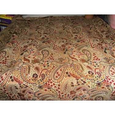 pure silk CDC crepe paisley printed fabric 16 mm weight b2#101[nv]107