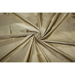 "100% Silk Taffeta Fabric gold and dark gold   Stripes 54"" TAFS160[3]"