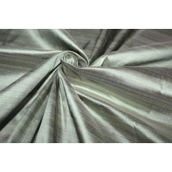 "100% Silk Taffeta Fabric pinstripe shades of green 54"" TAFS160[2]"