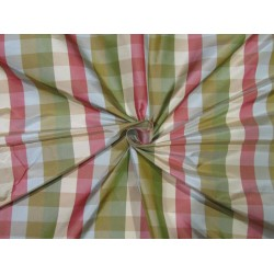 100% Silk Taffeta Fabric multi color   plaids TAFC65[3]
