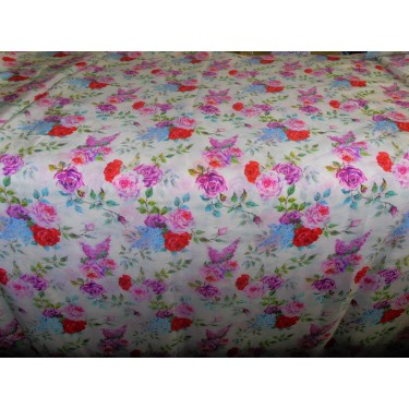 pure silk CDC crepe DIGITAL printed fabric 16 mm weight B2#101A[5]