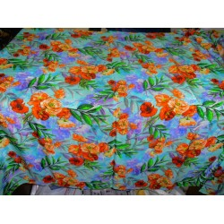 pure silk CDC crepe DIGITAL printed fabric 16 mm weight B2#101A[11]