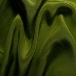"Pure Silk crepe fabric 36""[rich green}"