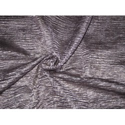 crushed sheer Dark Steel silk metalic tissue fabric