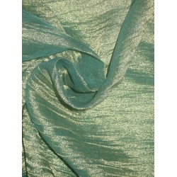 crushed sheer gold x blue silk mettalic tissue fabric