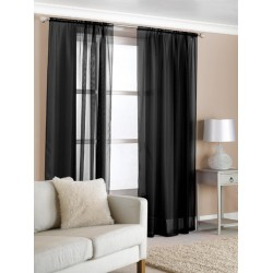 100% Cotton Gauze Tab Curtain, 44 inches X 108 inches*black