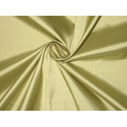 Pure SILK Dupioni FABRIC Light Olive Green 54""