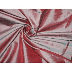 SILK Dupioni FABRIC Iridescent Blue x Pink colour 54""