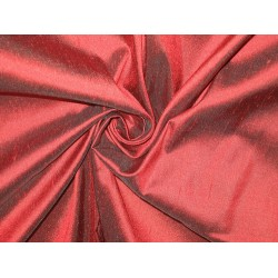 "SILK Dupioni FABRIC 54"" Burgundy Red Colour"