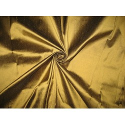 100% Pure SILK Dupioni FABRIC Pure Gold x Black Shot