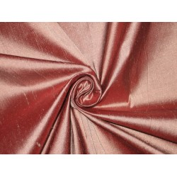 Pure SILK Dupioni FABRIC Baby Pink x Black Shot color sold by the yard