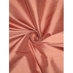 Pure SILK Dupioni FABRIC Dusty Rose color