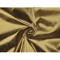 Pure SILK Dupioni FABRIC Golden Glaze color 54""