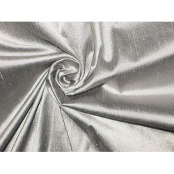 SILK Dupioni FABRIC Pure Silver colour
