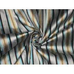 PURE SILK Dupioni FABRIC Multi color Stripes