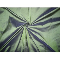 Pure SILK Dupioni FABRIC Dark Green With Blue Shot 54""