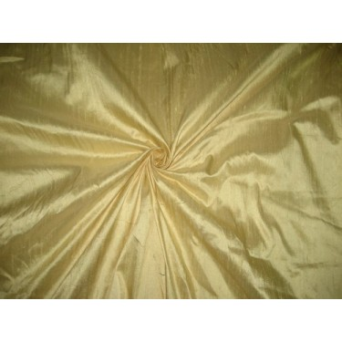 100% Pure SILK Dupioni FABRIC Golden Butter 54""