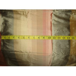 "Silk Dupioni fabric 54"" Multi colour stripes"