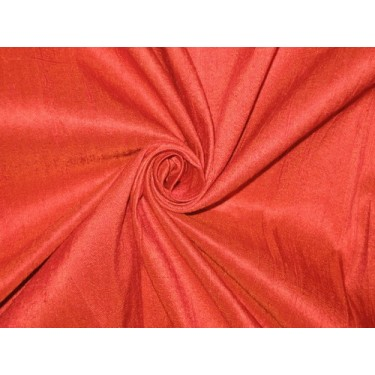 SILK Dupioni FABRIC Rusty Red 54""