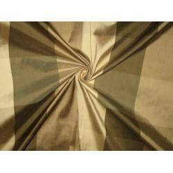 SILK Dupioni FABRIC Shades of Brown Colour plaids DUP27