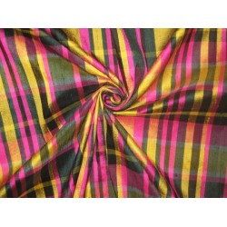 SILK Dupioni FABRIC Multi Colour plaids DUPC18[2]