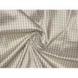 SILK Dupioni FABRIC Beige & Cream Colour plaids