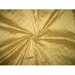 Gold silk dupioni fabric pintuck design