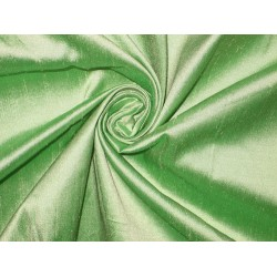 "SILK Dupioni FABRIC 44"" Light Green with ivory shot"