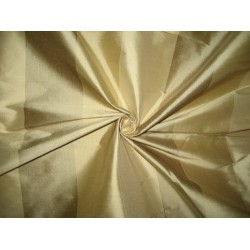 Pure SILK Dupioni FABRIC 3 Shades of Gold Stripes
