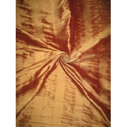 Pure SILK Dupioni FABRIC 3 Shades of Gold Stripes*DUPS14[1]