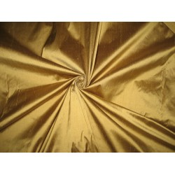 Pure SILK Dupioni FABRIC Sand Gold color 44""