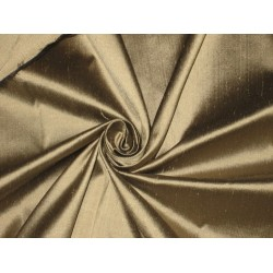 "Pure SILK Dupioni FABRIC Dull Gold x Black Shot 54""DUP 26A"