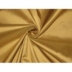 "Pure SILK Dupioni FABRIC Pure Golden Glow 54"" wide sold by the yard"