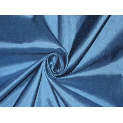 100% Pure SILK Dupioni FABRIC Night Blue 54""