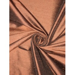100% Pure SILK Dupioni FABRIC Brown with Black shot