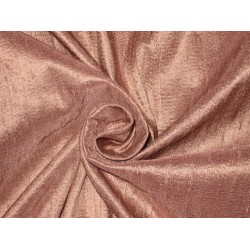 100% Pure SILK Dupioni FABRIC Dark Dusky Pink