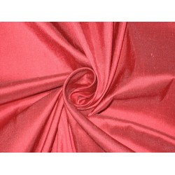 100% Pure SILK Dupioni FABRIC Pinkish Red