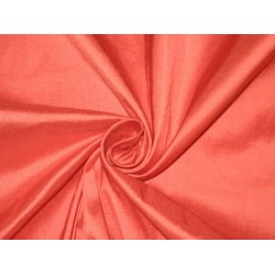 100% Pure SILK Dupioni FABRIC Pure Coral sold by the yard