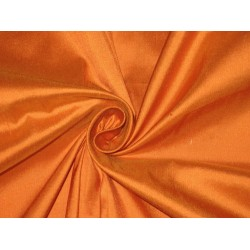 100% Pure SILK Dupioni FABRIC Mandrin Orange