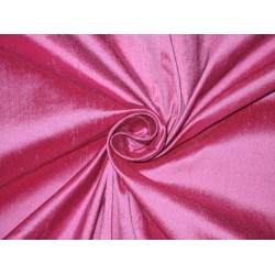 100% Pure SILK Dupioni FABRIC Pink x Purple = Fuscia