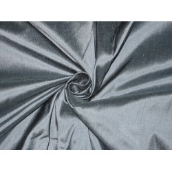 100% Pure SILK Dupioni FABRIC Rain Cloud Blue